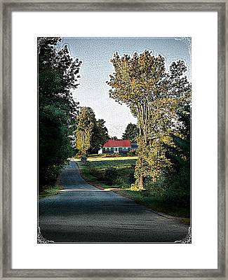 Farmhouse Framed Print by Joy Nichols