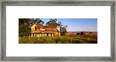 Farmhouse On A Landscape, Imbler, Union Framed Print by Panoramic Images