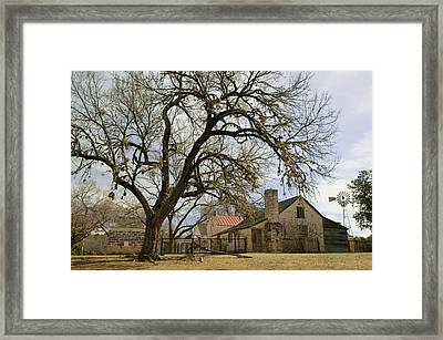 Farmhouse On A Landscape, Living Framed Print by Panoramic Images
