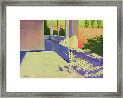 Farmhouse Porch Framed Print by Mary McInnis