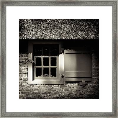 Farmhouse Window Framed Print by Dave Bowman