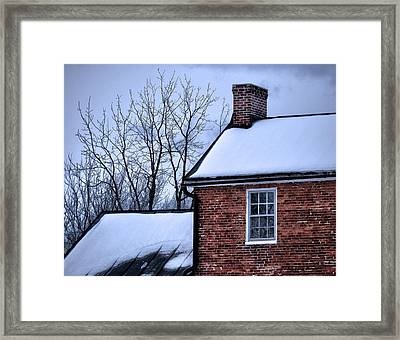 Framed Print featuring the photograph Farmhouse Window by Robert Geary