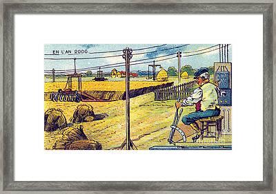 Farming, 1900s French Postcard Framed Print