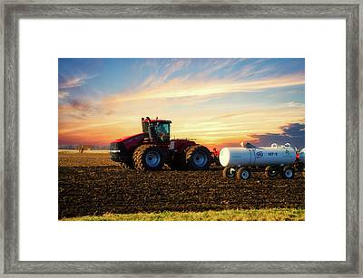 Farming April In The Field On The Case 500 Framed Print