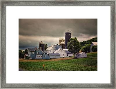Farming Before The Storm Finger Lakes New York 04 Framed Print by Thomas Woolworth