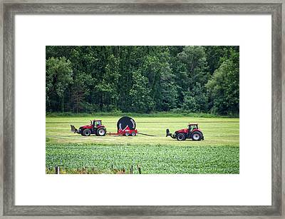 Farming Case Tractors Finger Lakes New York Framed Print by Thomas Woolworth