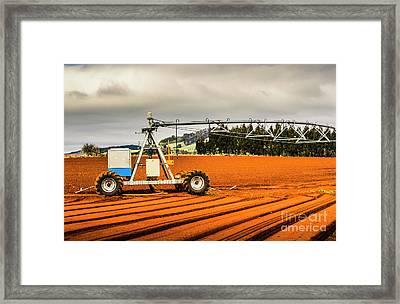 Farming Field Equipment Framed Print