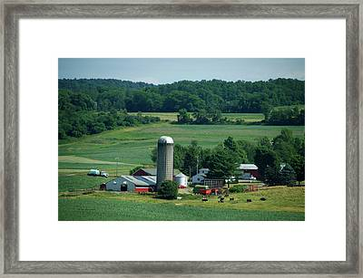 Farming Finger Lakes New York 08 Framed Print by Thomas Woolworth