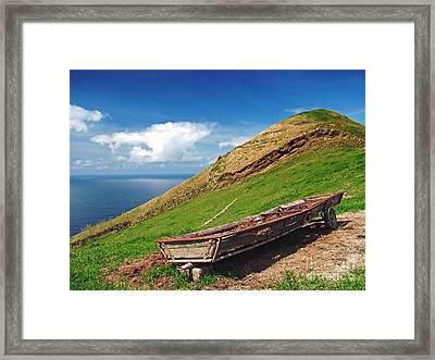 Farming In Azores Islands Framed Print by Gaspar Avila