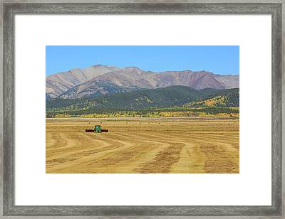 Farming In The Highlands Framed Print