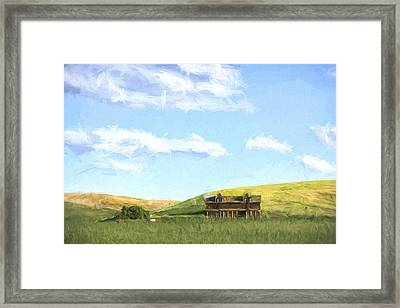 Farming In Washington II Framed Print by Jon Glaser