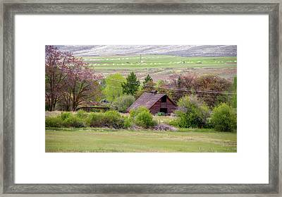 Farming Then And Now Framed Print by Ron Day