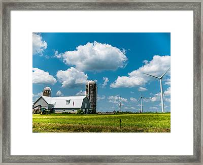 Farming Usa Framed Print