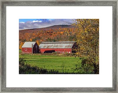 Farming Vermont Framed Print by Capt Gerry Hare
