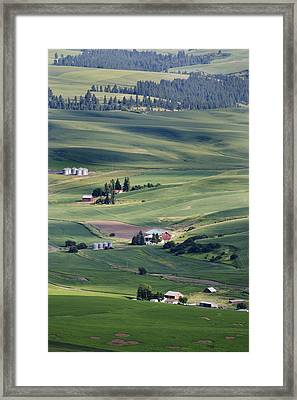 Farmland In Eastern Washington State Framed Print