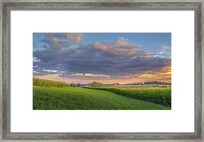 Farmland Sunset 2017 Framed Print