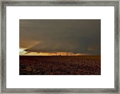 Framed Print featuring the photograph Farmland Supercell by Ed Sweeney