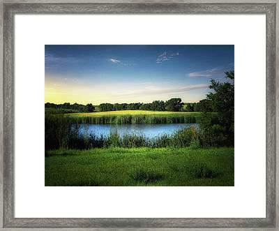 Farmland Waters Framed Print
