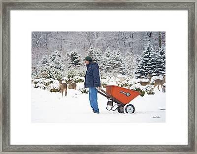 Framed Print featuring the photograph Farmlife by Angel Cher