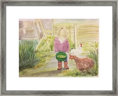 Farm's Life  Framed Print by Annie Poitras