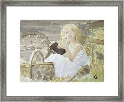 Farm's Reader Framed Print