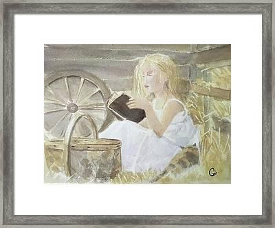 Farm's Reader Framed Print by Annie Poitras