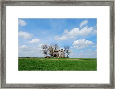 Farmstead Framed Print by Harold Clayberg