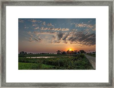 Farmstead Sunrise Framed Print