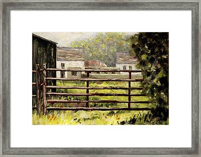Farmyard Gate Framed Print by John  Nolan