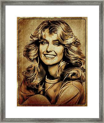 Farrah Fawcett Hollywood Actress Framed Print by Esoterica Art Agency