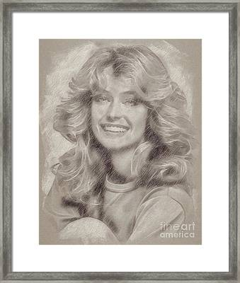 Farrah Fawcett Hollywood Actress Framed Print by Frank Falcon