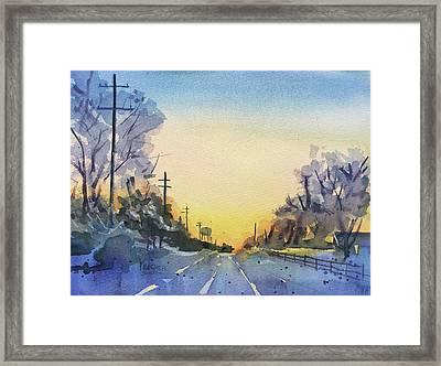 Farraway Farms Winter Framed Print