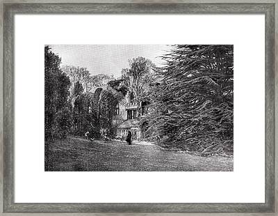 Farringford At Freshwater Bay, Home Of Framed Print by Vintage Design Pics