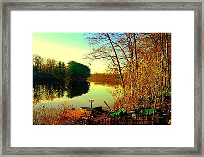 Farrington Lake Framed Print by Aron Chervin