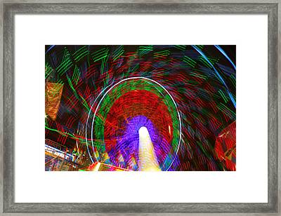 Farris Wheel Crazy Light Abstract Framed Print by James BO  Insogna