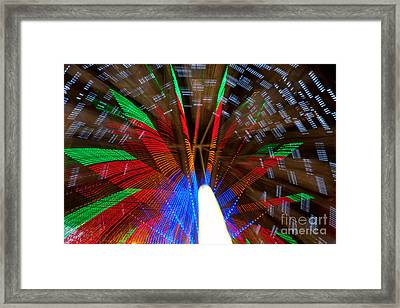 Farris Wheel Light Abstract Framed Print by James BO  Insogna