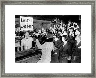 Farwell 18th Amendment Framed Print by Jon Neidert