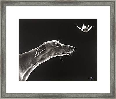 Fascination Framed Print by Elena Kolotusha
