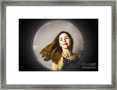 Fashion And Makeup Woman At Beauty Salon Store Framed Print by Jorgo Photography - Wall Art Gallery