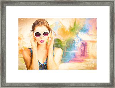 Fashion Art Pinup Woman Framed Print by Jorgo Photography - Wall Art Gallery