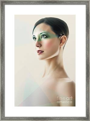 Framed Print featuring the photograph Fashion Beauty Portrait by Dimitar Hristov