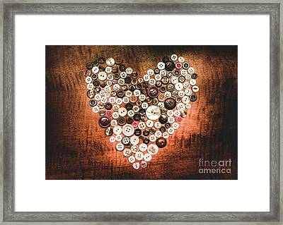 Fashion Button Love Framed Print by Jorgo Photography - Wall Art Gallery