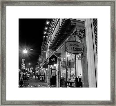 Fashion Cleaners In Fed Hill Framed Print by Sean Jones