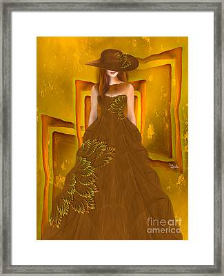 Fashion Design Art - Autumn Ball Gown By Rgiada Framed Print