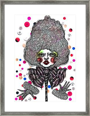 Fashion Doll Framed Print