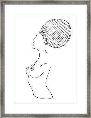 Fashion Drawing Framed Print by Frank Tschakert