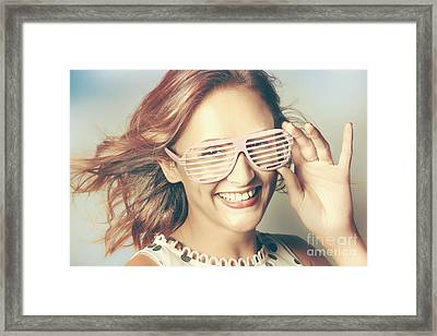 Fashion Eyewear Pin-up Framed Print