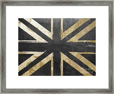 Fashion Flag United Kingdom Framed Print by Mindy Sommers