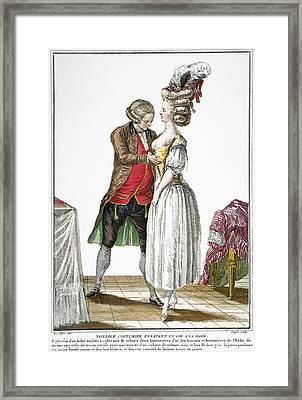 Fashion: French, 1778 Framed Print