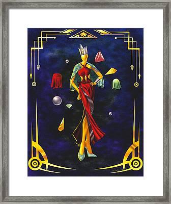 Fashion Goddess Illustration No.1 Framed Print by Kenal Louis